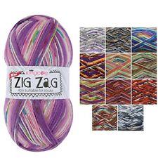 ZIG ZAG 4PLY SOCK YARN Wool by KING COLE * Knitting Yarn * Various Colours