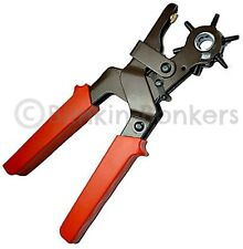 LEATHER BELT PUNCH HEAVY DUTY REVOLVING EYELET HOLE PUNCHER PLIERS 6 SIZES 16C