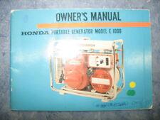 E1000 PORTABLE GENERATOR OWNERS MANUAL PRINTED 1967 E 1000 67