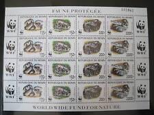 Benin WWF 1159/62 Klbg. postfrisch / Schlangen Phyton