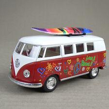 1962 Volkswagen Classic Kombi Combi Microbus Hippy Surfer Van Surfboard Red