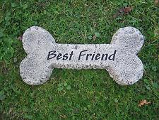 DOG BONE memory stone garden ornament <<VISIT MY SHOP>>