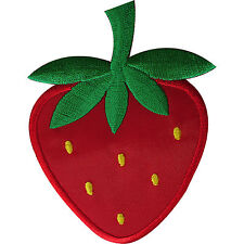 Strawberry Patch Embroidered Iron Sew On Fruit Badge Embroidery Crafts Applique