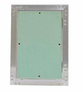 Revisionsklappe viele Größen Aluminium-Rahmen 12,5 mm GK-Einlage Gipskarton Tür
