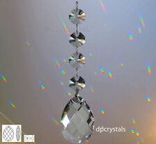 Crystal Suncatcher Hanging Feng Shui Rainbow Bead Prisms with Swarovski Octagons