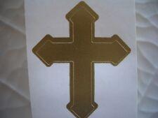 100 GOLD CROSS tanning bed stickers.tattoos.crafts.scrapbook.spray tan