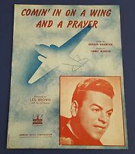 Vtg Sheet Music 1943 Comin' In On A Wing And A Prayer Les Brown & His Orchestra