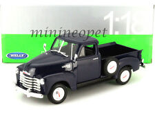 WELLY 19836 1953 53 CHEVROLET 3100 PICK UP TRUCK 1/18 DIECAST BLUE