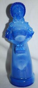 "Vintage Degenhart Crystal Glass BLUE SLAG PRISCILLA Lady Doll 5"" Figurine"