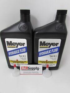 2 QUART GENUINE MEYER SNOW PLOW OIL HYDRAULIC FLUID W/ ANTI ICER 15487 15134