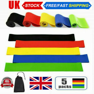 Resistance Bands Loop Kit Weights Home Fitness Latex Gym Workout Singles or Set