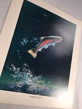 Rainbow Trout Vintage Bob Hines Fish Art Print US Dept Of Interior 1972 Fishing