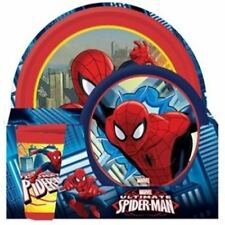 MARVEL COMICS SPIDERMAN KIDS BREAKFAST SET DINNER PICNIC CAMPING CUP BOWL PLATE
