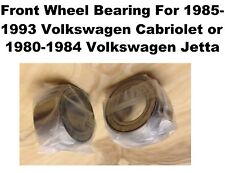 Two Front Wheel Bearing For 1985-1993 Volkswagen Cabriolet; 80-84 Jetta (510066)