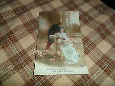 Vintage 1916 La Delivrance WW1 Era French US GI Sent Postcard W/Soldier & Ladies