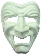 DLX triste MASCHERA Bianco Greco Masquerade COMMEDIA Play Costume STADIO martedì grasso