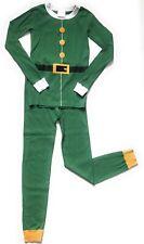 Hanna Andersson Long John Boys 140 10 Christmas Elf Pajamas Organic Cotton