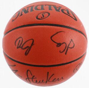 Warriors Game Ball Series Basketball 6 Signatures Kerr Cook Bell Jerebko Collins