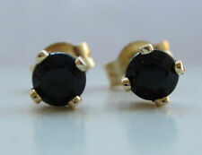 Sapphire Not Enhanced Yellow Gold Fine Earrings