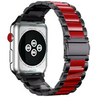 For Apple Watch Series SE 6 5 4 3 2 1 38/42mm 40/44mm Bracelet Strap Metal Band