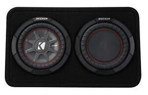 Kicker TCompRT82 Subbox (TCWRT82-43) 20cm Subwoofer Passiv-Reflex-Radiator New