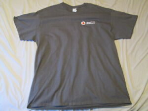 AMERICAN RED CROSS PROMOTIONAL ADVERTISING Gray Short Sleeve T-SHIRT - Size XL