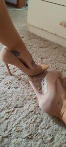 Tony Bianco Adele Nude Heel brand new Size 7.5~ R.R.P $169.95 small scuff read