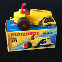 Matchbox Superfast No 21 Rod Roller Nr Mint In Box 1972 Day Diecast Toy