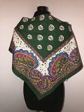 Châle Fichu provençal, folklore, en coton, Valisère 111 cm x H 55 cm