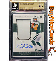 2018 Sam Darnold National Treasures RC Rookie Patch Auto /99 BGS 9.5 / 9