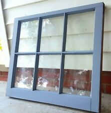 Vintage Sash Antique Wood Window Picture Frame Pinterest Wedding Etsy 36x28 Gray