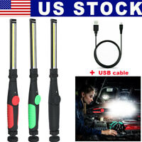 Magnetic Rechargeable COB LED Bright Light Lamp Work Flashlight Folding Torch us