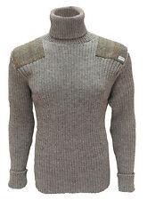 Cuello Vuelto Suéter | Harris Tweed Parches | 100% Británico Lana | #14132