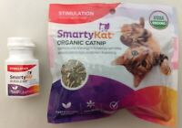 Smarty Kat Organic Catnip and Bubble Nip Toy for Stimulation and Fun