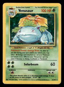 Pokemon Card - Venusaur - 15/102 - Holo Unlimited Base Set (Read Description) MP