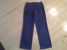 SIZE 4 - ANN TAYLOR 100% Cotton Straight Leg Soft & Comfy Blue Denim Jeans 27x30
