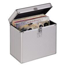 "12"" Record Vinyl Storage Carry Case DJ Box Holds 50 LP's Aluminium / Lockable"