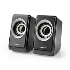 Nedis PC Lautsprecher 2.0 , 18W Speaker Multimedia Boxen für PC Computer Laptop