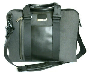 Tumi Graphite Polyester/Leather Aviano Slim Brief #0232390AT2 - NWOT