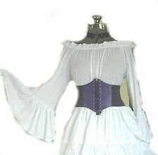 PURPLE RENAISSANCE STEAMPUNK COSTUME UNDERBUST CORSET PIRATE WENCH WAIST CINCHER