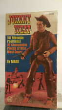 Vintage JOHNNY WEST Marx Movable Cowboy 2062 w/Accessories and Box