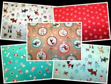 CHRISTMAS DOGS - BRIGHT & FUNKY DOG DESIGNS 100% cotton patchwork quilt fabric