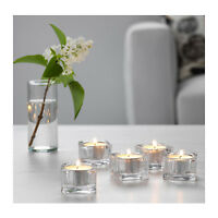 IKEA GLASIG Glass SQUARE Tea Light Holder Candle Holders Wedding Tealight 38mm
