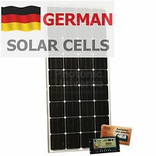 150W 12V dual battery solar panel charging kit motorhome camper boat yacht van