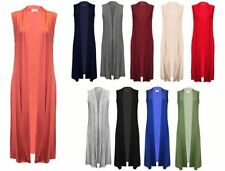 Collared None Long Sleeveless Jumpers & Cardigans for Women