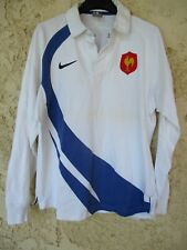 Maillot rugby QUINZE de FRANCE 2007 2009 NIKE coton shirt blanc away vintage M