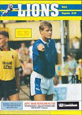 1990/91 MILLWALL V BOURNEMOUTH 10-10-1990 League Cup 2nd Rnd 2nd Leg