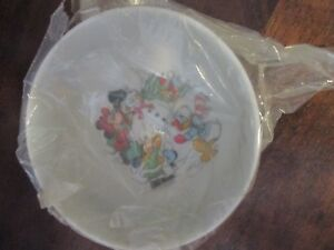 Walt Disney Productions Mickey Mouse/ Friends at Christmas Ceramic Bowl