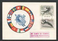 AUSTRIA MK 1964 OLYMPIA OLYMPICS SKI SLALOM CARTE MAXIMUM CARD MC CM d8567