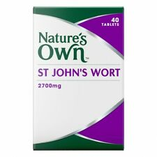 Nature's Own St Johns Wort 2700mg 40 Tablets help calm the nerves